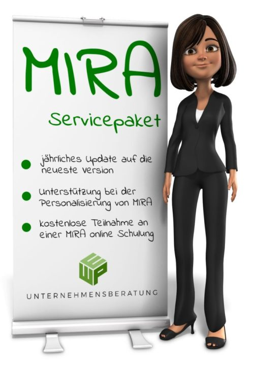 Servicepaket für MIRA – MANAGEMENT TOOL FOR INVOICES , REQUESTS AND AWARENESS